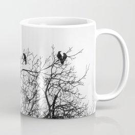 A murder of crows sitting in a tree Coffee Mug