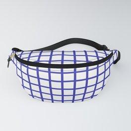 Grid (Navy & White Pattern) Fanny Pack