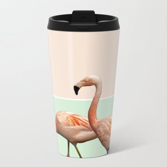 Flamingo Pastel Art #society6 #decor #fashion #buyart Metal Travel Mug
