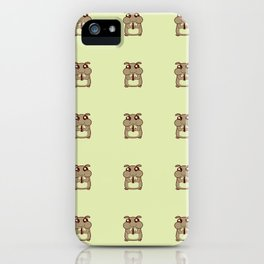 Cute Duotone Hamster Pattern Illustration iPhone Case