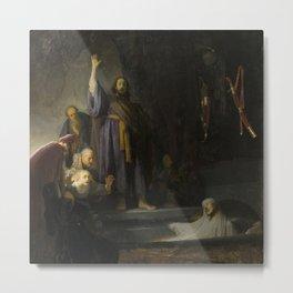 The Raising of Lazarus Metal Print