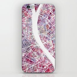 Budapest map iPhone Skin