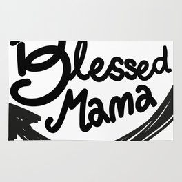 Blessed Mama Gift Mom Mothers Day Present Rug