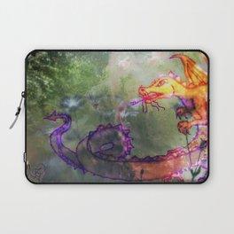 Garden of the Hesperides, digital art with fierce dragon Laptop Sleeve