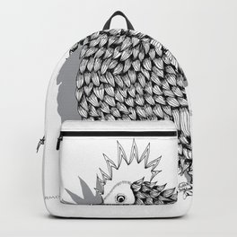 Zentangle  Funky Chicken Illustration Backpack