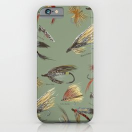 Fly fishing with hand tied lures! iPhone Case