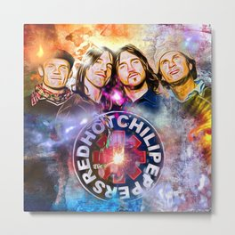 The Chili Peppers Painted Metal Print