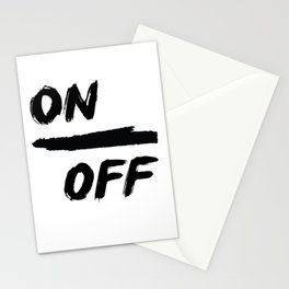 ON/ OFF Stationery Cards
