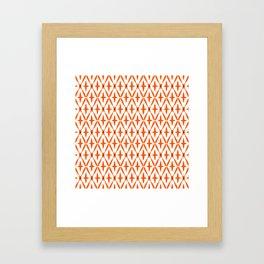 Orange Integration Pattern 1 Framed Art Print
