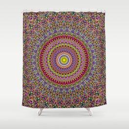 Magic Ornamental Garden Mandala Shower Curtain