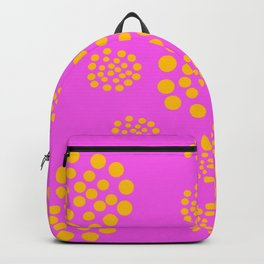 Fuchsia Orange Geometric Abstract Backpack