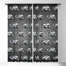 Classic Seventies American Muscle Car Cartoon Blackout Curtain
