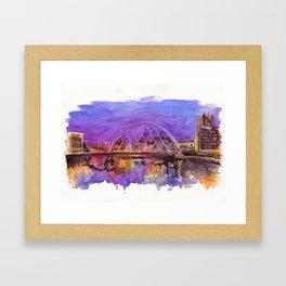 Glasgow Sunset Framed Art Print
