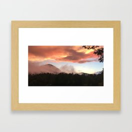 Sunset in Appalachia Framed Art Print