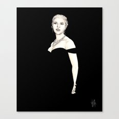 Black and Scarlett  Canvas Print