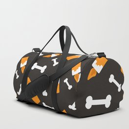Happy halloween bones and candles pattern Duffle Bag