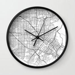 Minimal City Maps - Map Of Santa Ana, California, United States Wall Clock