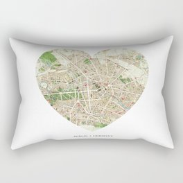 Berlin heart map Rectangular Pillow
