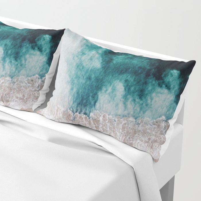 Ocean (Drone Photography) Pillow Sham