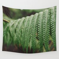 fern Wall Tapestries featuring Fern by Retro Love Photography