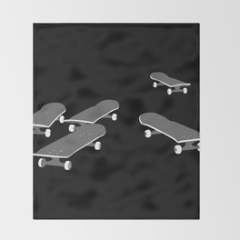 Skateboards Throw Blanket