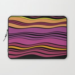 POPTART - bright layers of pink orange black stripes Laptop Sleeve