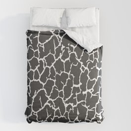 Black Cracked Paint Comforters