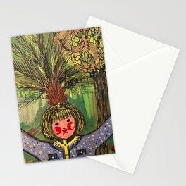 Girl by Wafaa Elgamel Stationery Cards