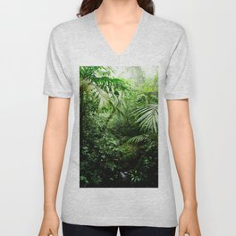 Misty Rainforest Creek Unisex V-Neck