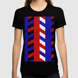 Striped Red Blue Pattern T-shirt