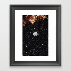 A Meteor in the space Framed Art Print