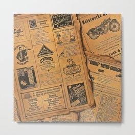 old newspaper Metal Print