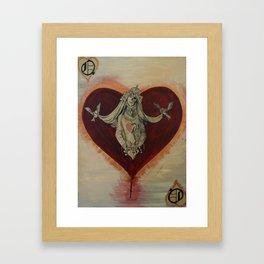 Queen of Brokenhearts Framed Art Print