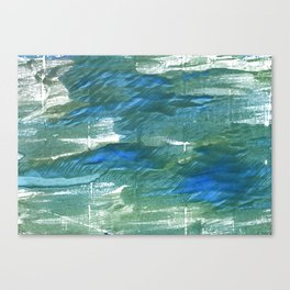 Wintergreen Dream abstract watercolor Canvas Print