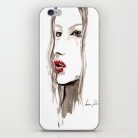 cara iPhone & iPod Skins featuring Cara by Vanessa Datorre