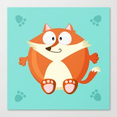 Fox from the circle series Canvas Print
