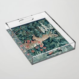 William Morris Forest Rabbits and Foxglove Acrylic Tray