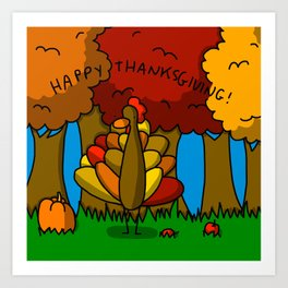 Happy Thanksgiving! Art Print