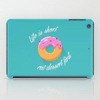 dessert iPad Cases featuring Dessert by ministryofpixel