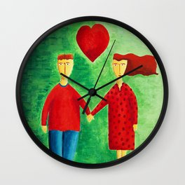 Couple in Love Wall Clock