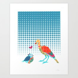 Nerd Birds Art Print
