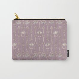 Purple mauve old padlocks and keys vintage style pattern Carry-All Pouch