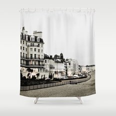 Old sea front Shower Curtain