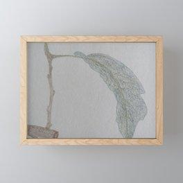 Fig Leaf Sketch Framed Mini Art Print