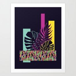Neon Tropical #society6 #tropical Art Print