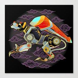 Black Lion Batik Canvas Print