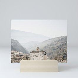 Sierra Nevada white capped mountaintop village   Bubion, Spain   Iconic travel prints, Saige Ashton  Mini Art Print