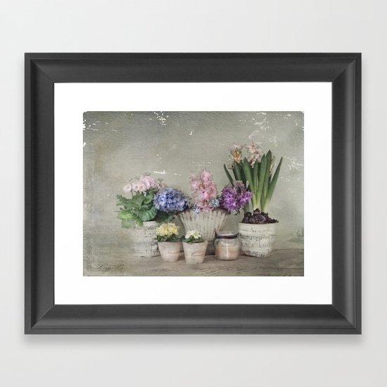 longing for springtime Framed Art Print