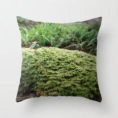 plant moss texture Throw Pillow
