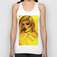 one line Tank Tops featuring One Line by MRSCM Illustration